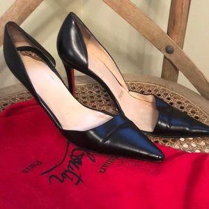 Christian louboutin d'orsay black heels 35